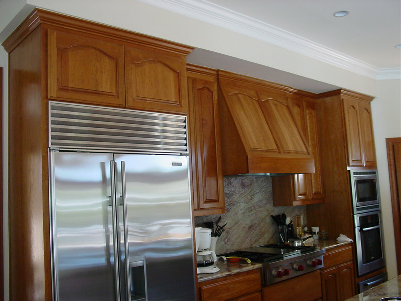 Cherry Cabinets@ 9' with Wood Hood