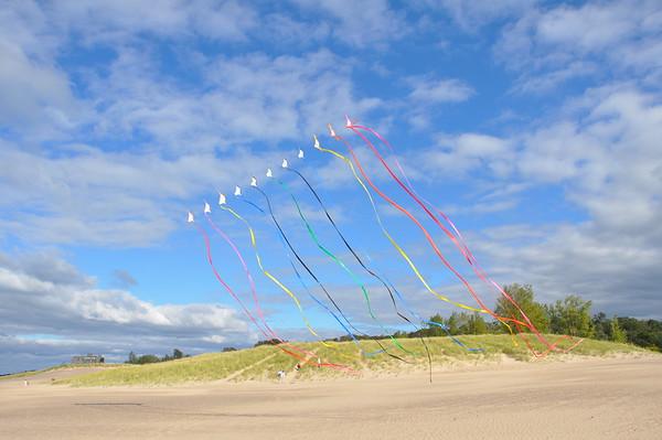 Kite Flying  Michigan City Sept 26 2010