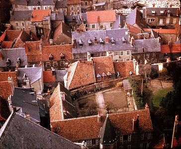 Nevers roofs, from cathedra