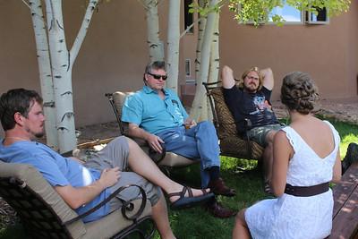 Jens, Peter, Luke, Kjirsten pre-wedding chat.