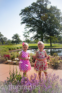 Girls at Jewel Box Standing in Flowers-