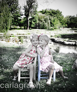 Girls on Chairs Art Tones, Custom Size-