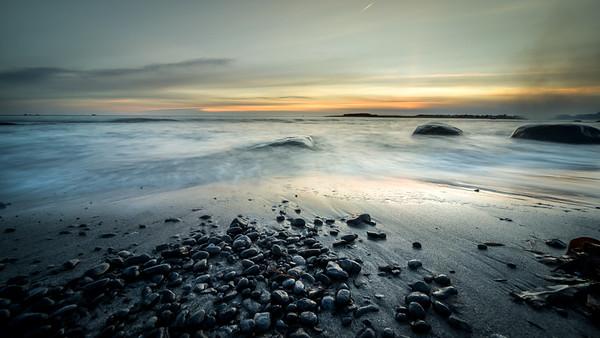 Steinane på stranda