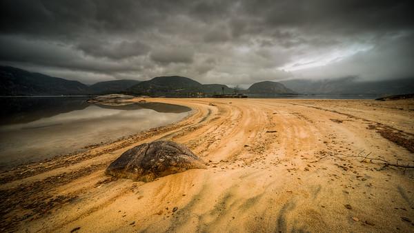 Sandstrand i Setesdalen