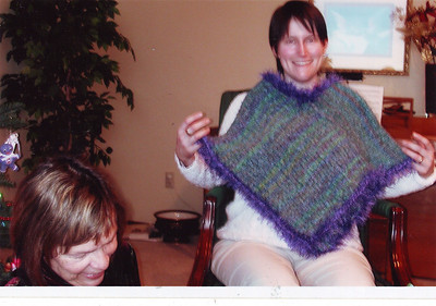 Tracie and poncho for one of the twins.