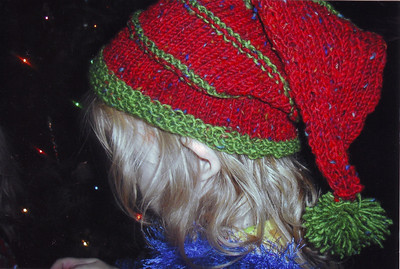 One of the hats I made for the twins.