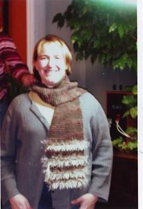 Jessy and a scarf.