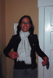 Alicia and her scarf.