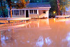 The south branch of Roaring Creek flows around a cottage at Knoebels Amusement Resort around 5 a.m. on Sept. 29, 2011.