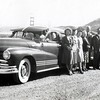 """Maybelle Knops Johnson  --  Harry Johnson  --  Anna  --  Ed  --  ??.<br /> <br /> Back of original is stamped as processed """"Oct 8, 1948"""".<br /> <br /> Golden Gate Bridge in the background.<br /> <br /> <br /> With any photo, add a comment or question in the lower left, or email me at ds329ds@hotmail.com . Also, contact me if you have a photo to share."""