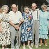 "Gertie  --  Ed  --  Anna  --  Johnnie  --  Madonna.    ....     Stamped on back, ""AUG 88""."