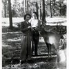 """Maybelle Knops Johnson and Anna.<br /> Written on the back of the original, """"At Grand Canyon N.P. Ariz."""".<br /> Processing date stamped on back, """"Oct 8 1948""""."""