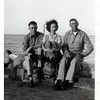 "Harry Johnson, Maybelle Knops Johnson, and Ed.<br /> Written on back ""At Salt Lake City"".<br /> Processing date stamped on back ""Oct 8 1948""."