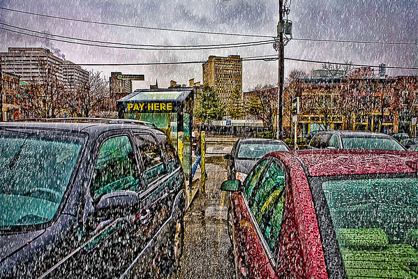 knoxville- old city in the rain