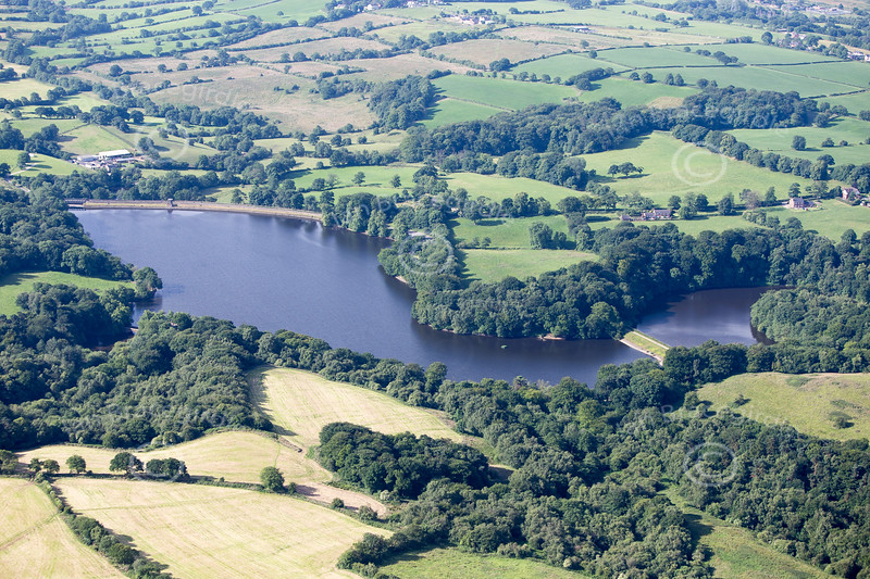 Knypersley Reservoir from the air.