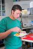 Christophe Doornaert geniet van het eerste voorgerecht.<br /> Restaurant Deleu - Rijselstraat 259 - Menen<br /> Dinsdag 15 mei '12<br /> <br /> Arquero a punto de retirarse del Club de Fútbol de Geluwe<br /> Restaurante Deleu - Rijselstraat 259 - Menen - Bélgica<br /> Martes 15 de mayo de 2012<br /> Etiquetar fotoAgregar ubicaciónEditar
