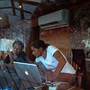 Geri working on the bridge