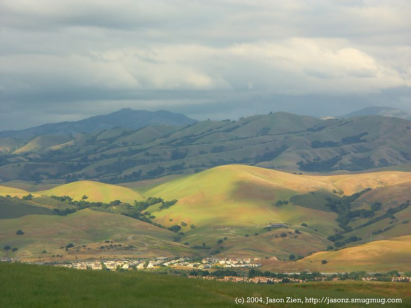 Santa Theresa Valley, San Jose, CA.  Post processed, sharpened, Neat Image noise reduction.