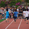 Korean kids dart towards the finish line.