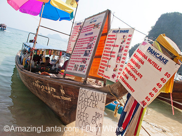 Longtail Boat Booze Bar, Railay Beach, Krabi, Thailand