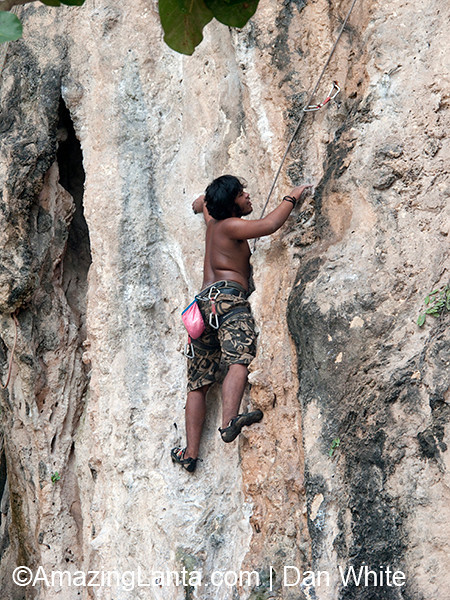 Rock Climbing at Tonsai Bay, Railay Beach