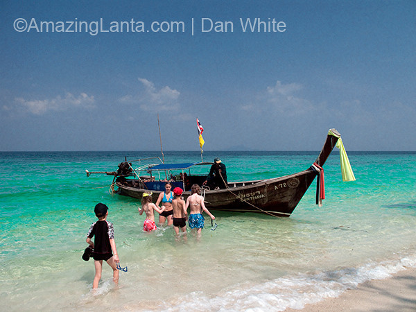 Longtail Boat, Railay Beach,  Krabi, Thailand