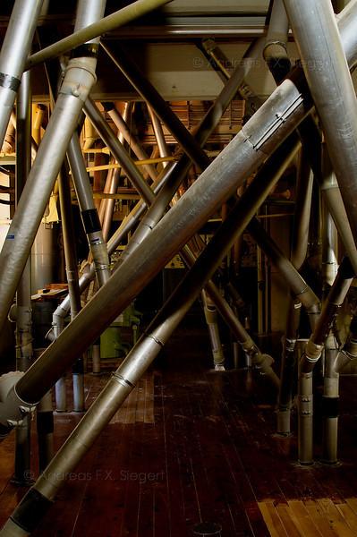 Flour pipes at Kraemersche Kunstmühle