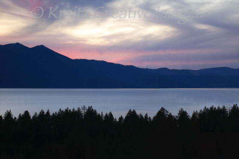Lake Tahoe Sunset<br /> © Kreitz Creative Images, Palo Alto, CA