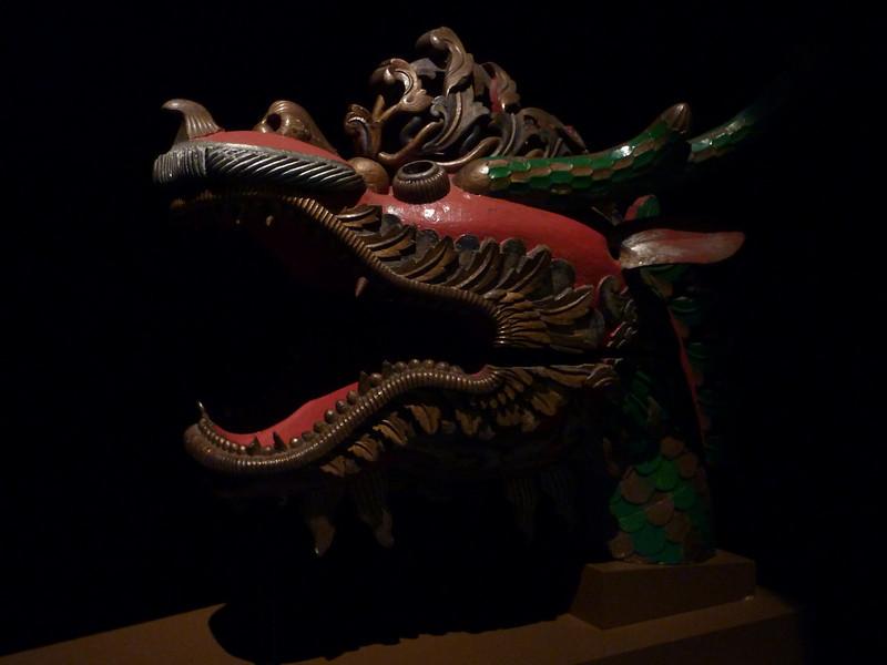 Oooohhh...aaaahhhhh.  It's a dragon figurehead from a boat.