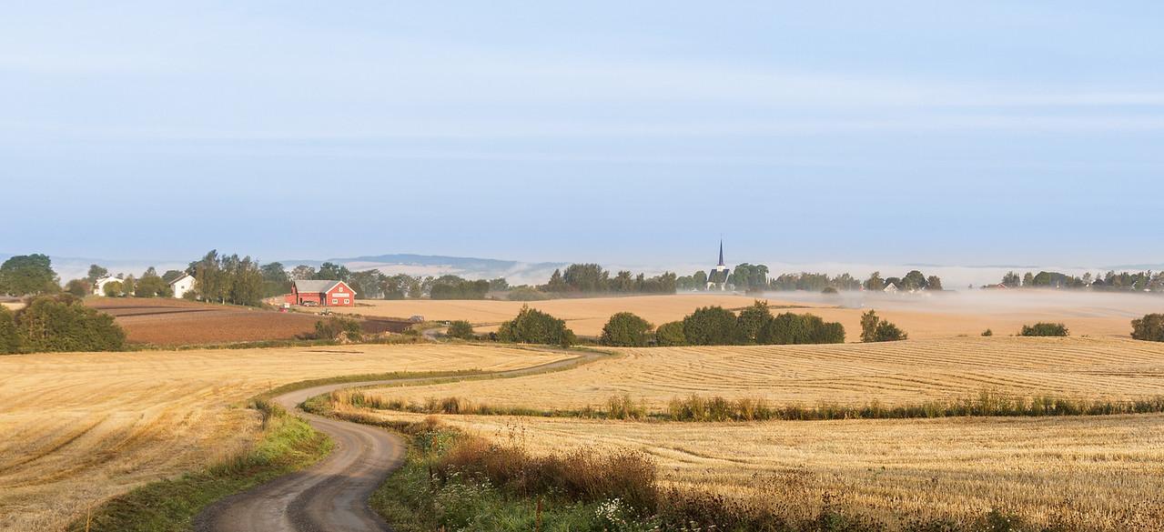 Kulturlandskap på Stange vestbygd.