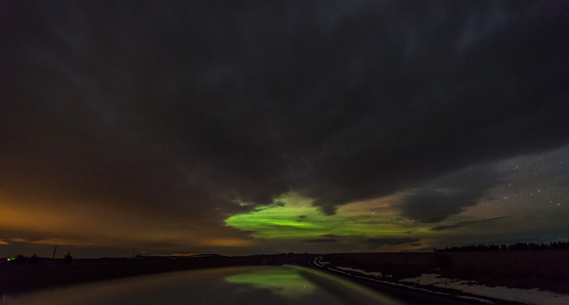 Hunting for the aurora - but not much luck finding a gap through the cloud!