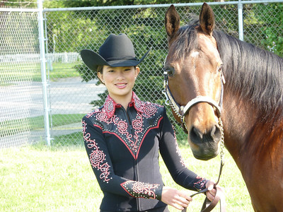 Kyrstyn's long time compadres and team-mates and Ana's sister Olivia and her horse Paris.