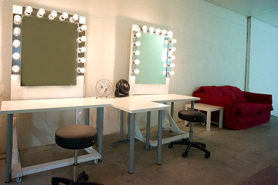 Makeup station and lounge