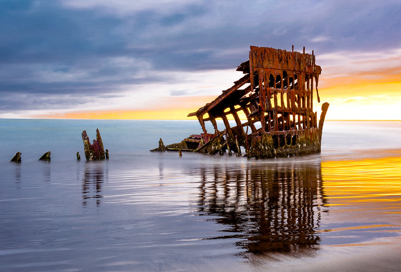Sunset at the Shipwreck, Oregon, USA