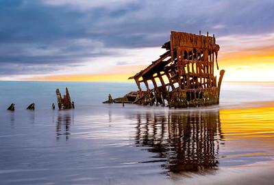 Sunset at the Shipwreck, Oregon, USA