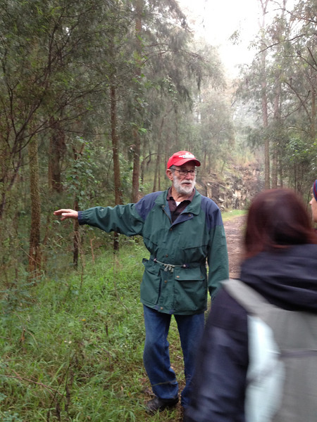 Doug Knowles, with whom I had been friends in the early 1960s and who I met again recently, led a group with the Glenbrook Historical Society over the old Zig Zag railway which ascended the eastern escarpment of the Blue Mountains.
