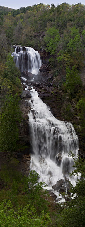 Whitewater Falls  ...and 150 steps to climb down to get this shot..and back up too!!! Whew!! This is a three-shot stitched photo..