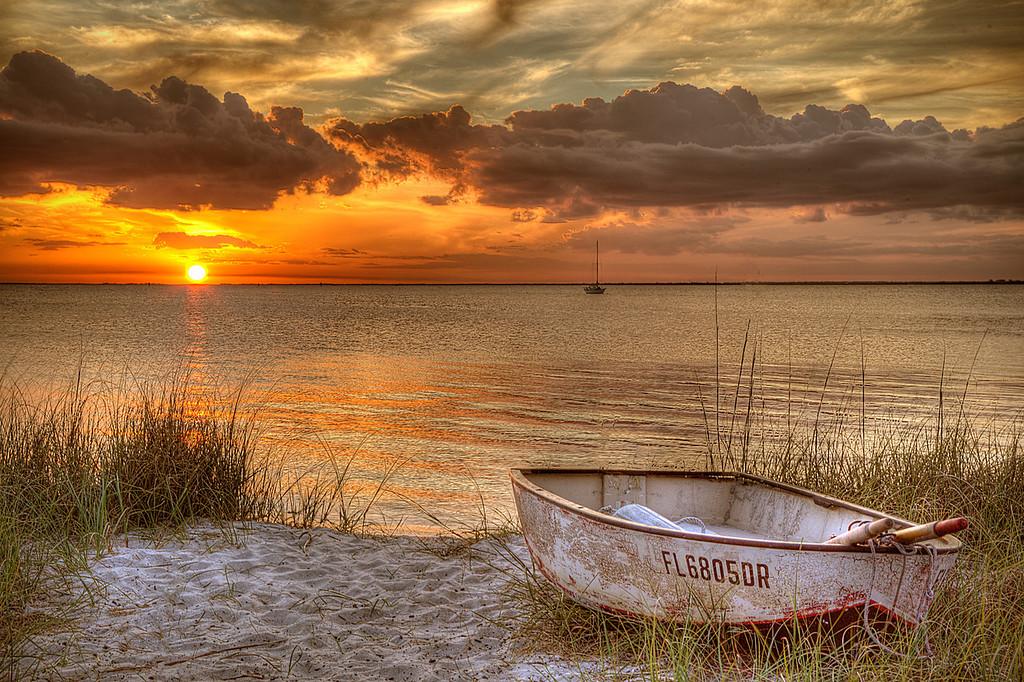 Sunset Boat taken in Punta Gorda, FL