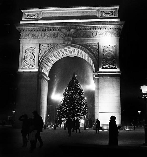 Washington Square, New York, Christmas 2009
