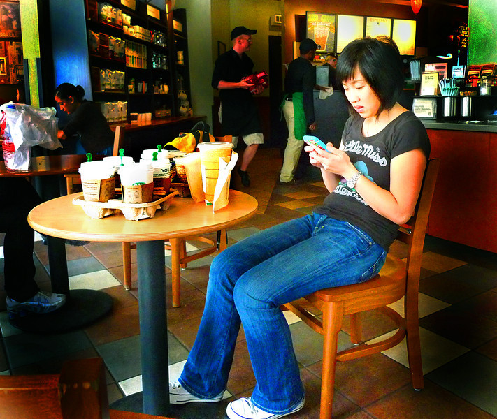 When one cup of coffee, just isn't enough- Starbucks, New York
