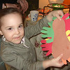 GRACIE MADE A TURKEY WITH AUNT CARI