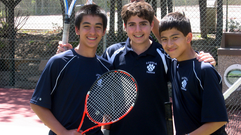 Can play singles or doubles--Josh K, Cyrus J, and Stephan L.