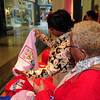Linda Victor and Debra Vann do some shopping. They were walking by and found the store.
