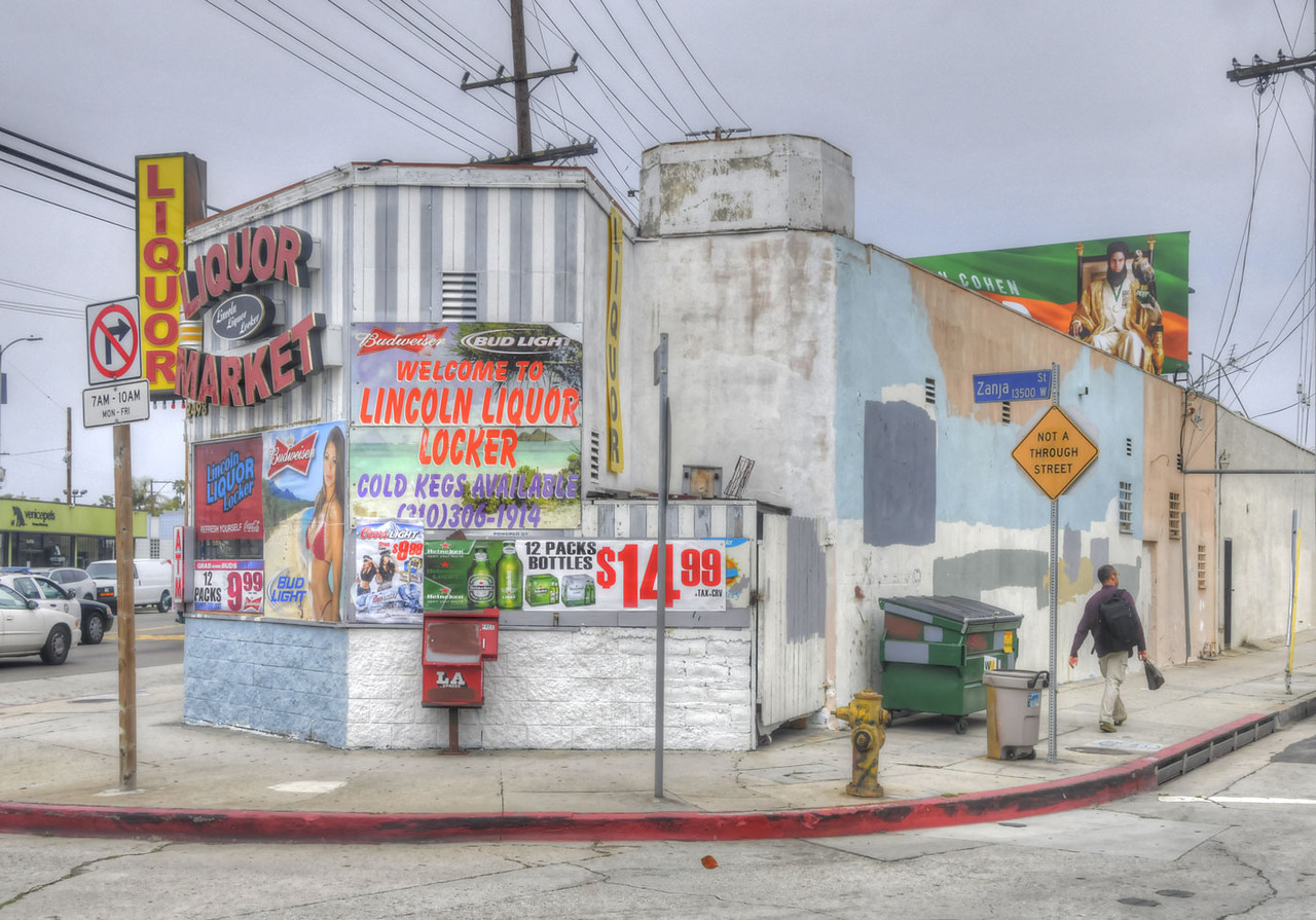 The Lincoln Liquor Locker is at Zanja - Lincoln Blvd is at far left