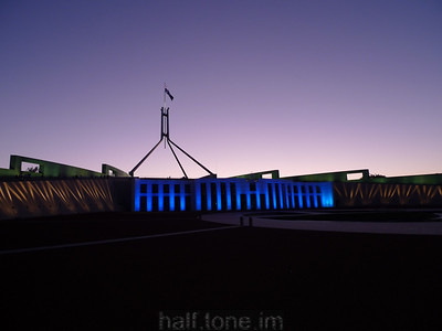 Parliament House, Canberra (at dusk)