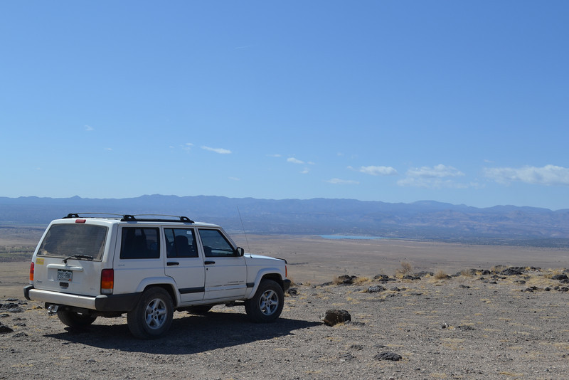 At the top of the mesa over looking Cochiti Reservoir.