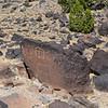 Petroglph along La Bajada.