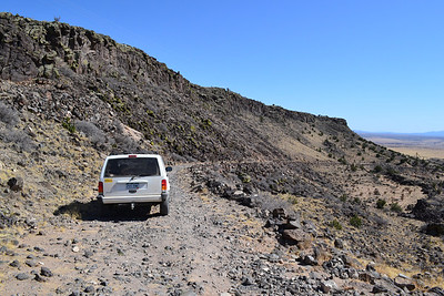 Beginning the descent of La Bajada hill. This is the easy part.