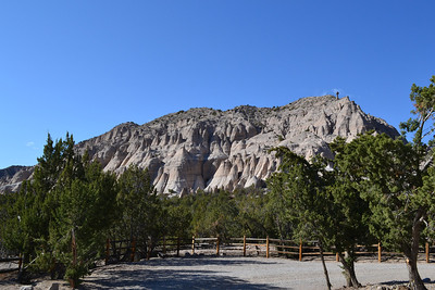 Approaching Tent Rocks from the trailhead.