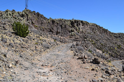 One of the last easy stretches of La Bajada hill. This so called road was part of the original Route 66.